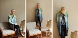 Aktuell Blauer Mantel mit Farbverlauf